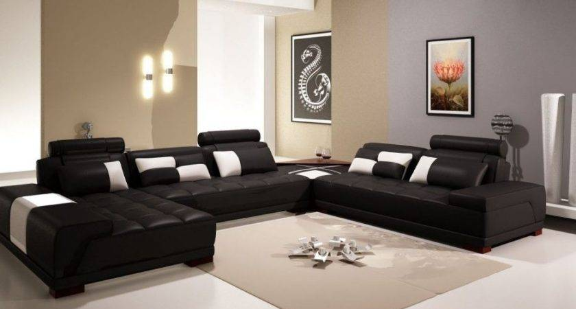 Living Room Awesome Black Sofas Decorating