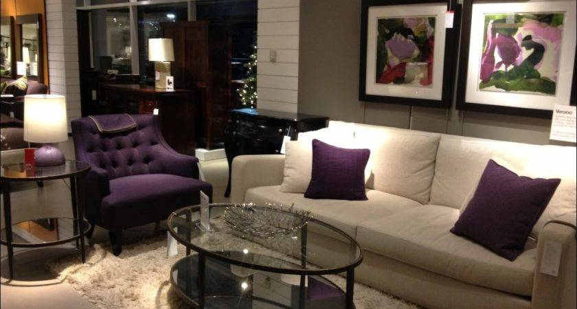 Living Room Awesome Purple Black Couch