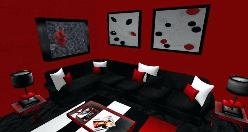 Living Room Awesome Red Black Best