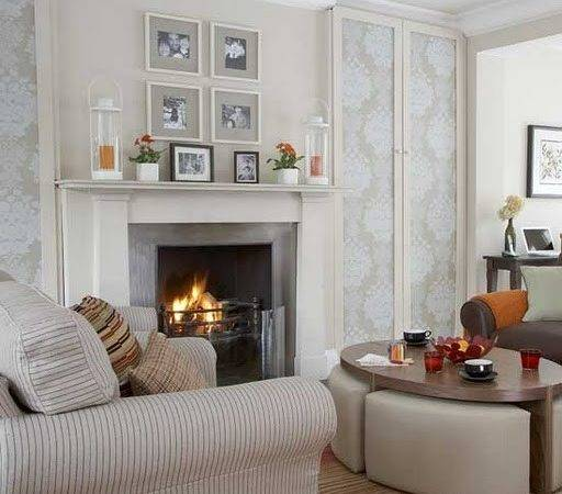 Living Room Beautiful Designs Fireplace Interior