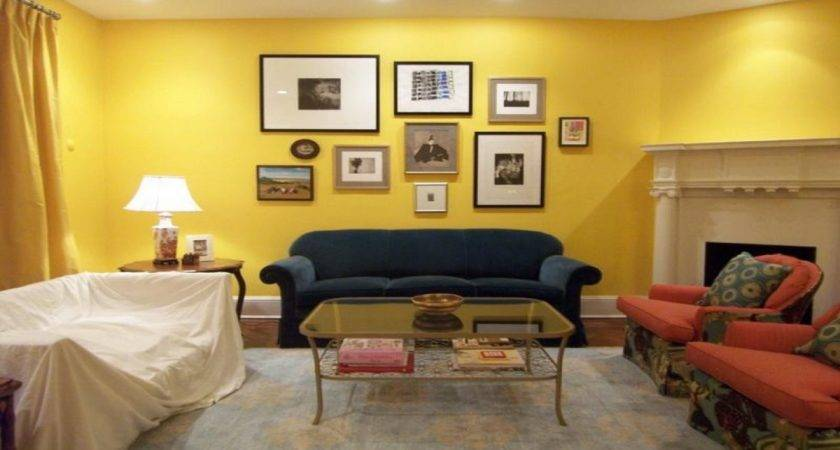 Living Room Bed Ideas Gold Yellow Paint