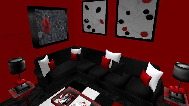 Living Room Black Red Ideas Furniture