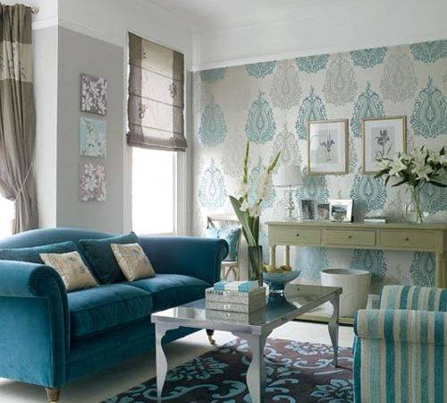 Living Room Blue White Color Ideas Ingenious Look