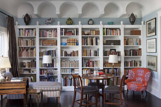 Living Room Bookcases Eclectic San