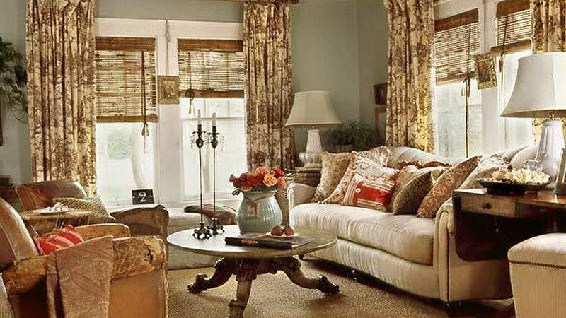 Living Room Classic Cottage Style Ideas