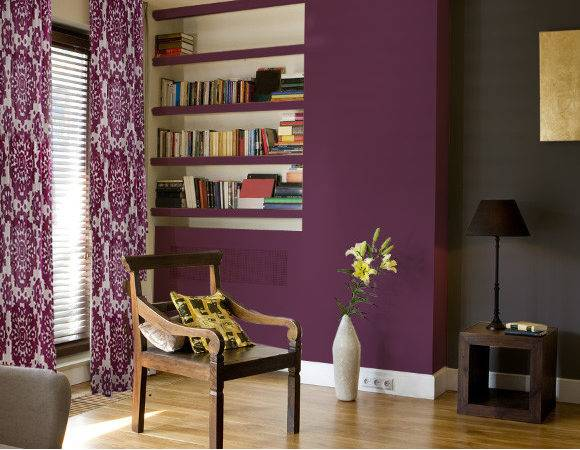 Living Room Color Purple Home Interior Design