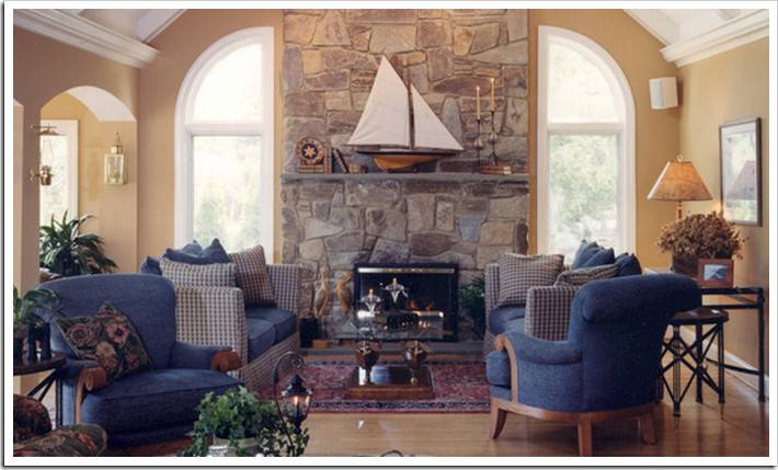 Living Room Colors Stone Fireplace
