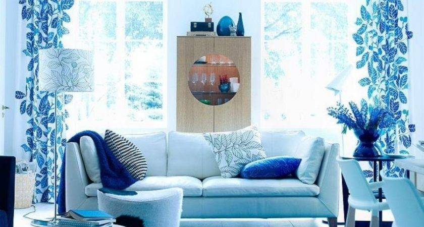 Living Room Cool Blue Ideas Light
