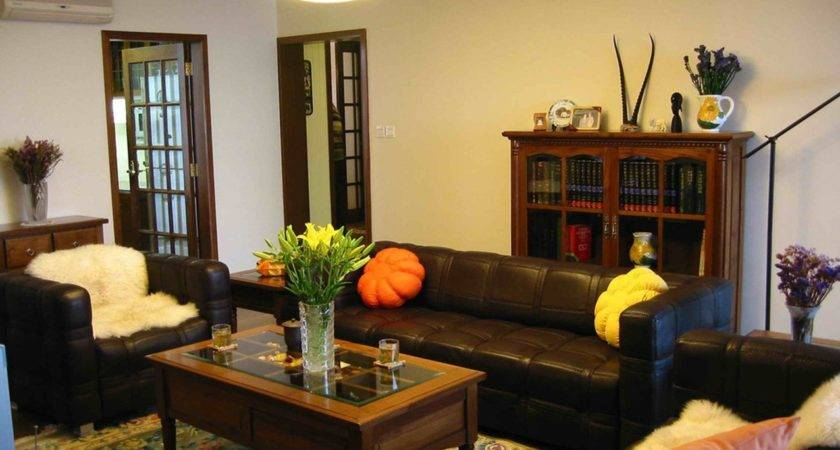 Living Room Cool Color Paint Goes Brown Tan