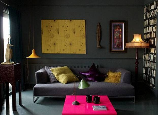 Living Room Dark Dramatic Walls Ideas Decoholic