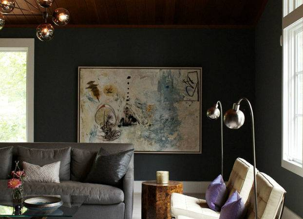 Living Room Dark Dramatic Walls Ideas Decor Advisor