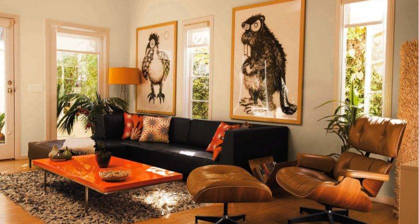 Living Room Decor Orange Brown Decorating Red Rooms