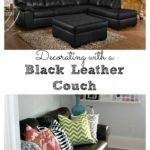 Living Room Decorating Ideas Black Leather Couch