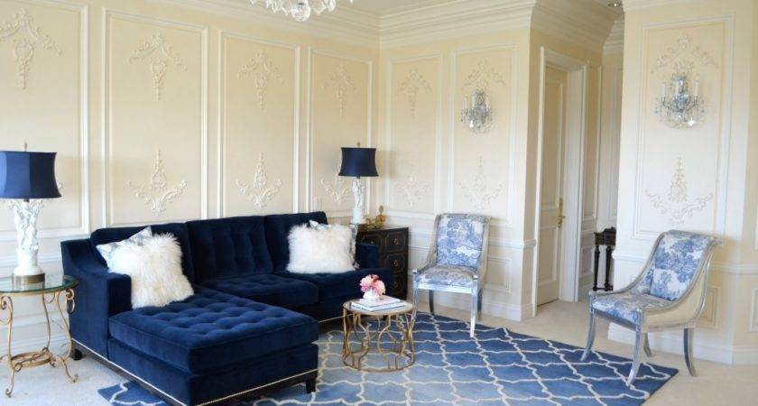Living Room Decorating Ideas Blue Couch Design
