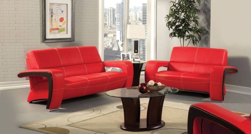 Living Room Decorating Ideas Red Leather Sofa