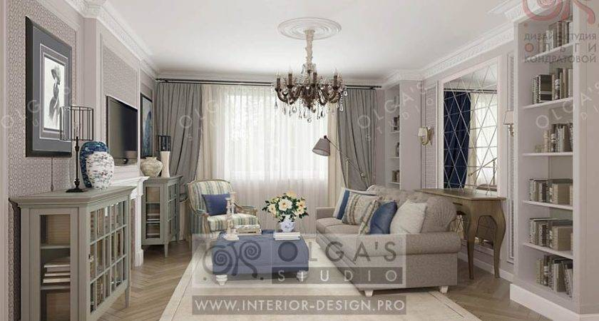 Living Room Design Neoclassical Style