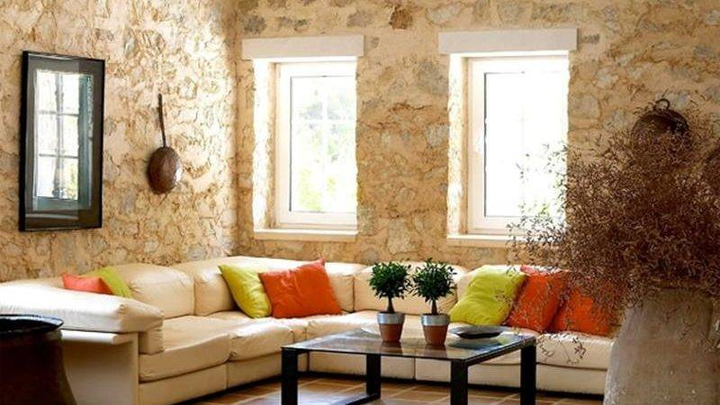 Living Room Designs Natural Stone Walls Rilane