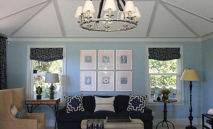 Living Room Excellent Blue Silver Designs