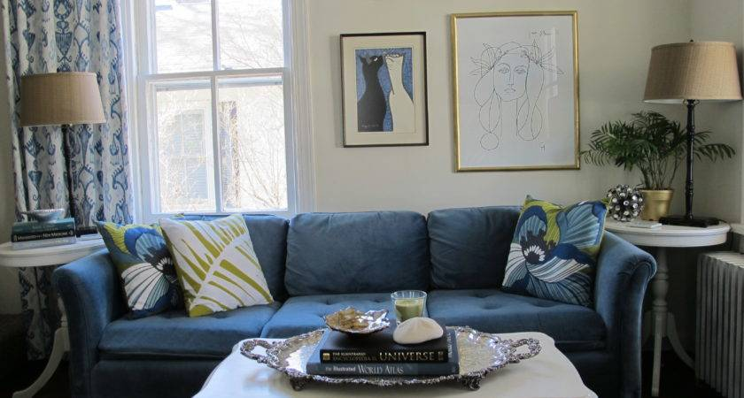 Living Room Ideas Blue Sofa Peenmedia