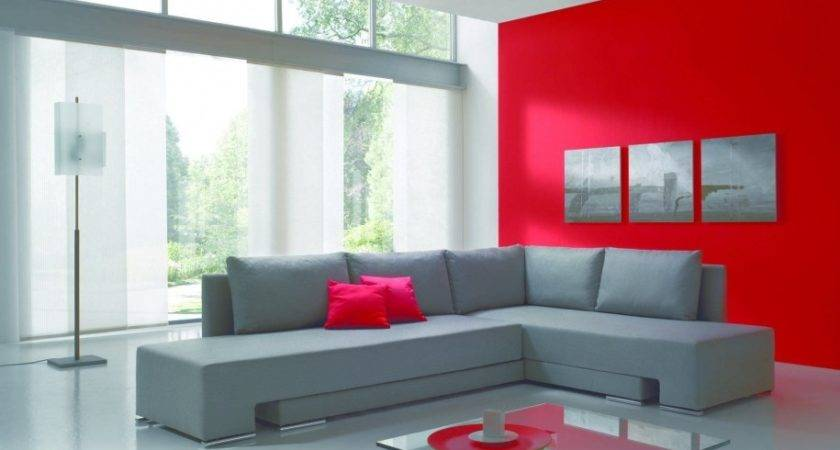 Living Room Ideas Red Grey