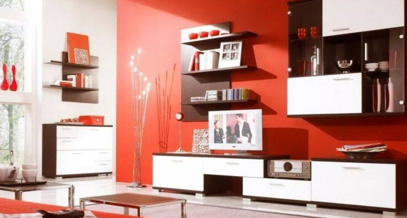 Living Room Mesmerizing Red Brown Ideas