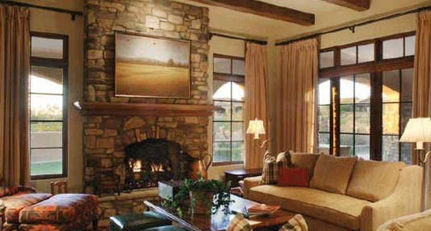 Living Room Modern Design Fireplace