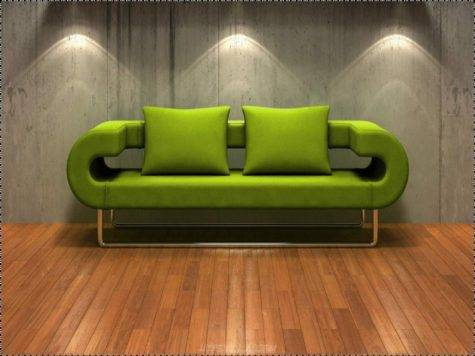 Living Room Modern Grey Combine Green Color