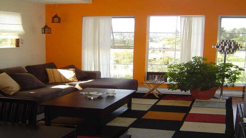 Living Room Orange Walls Color Schemes