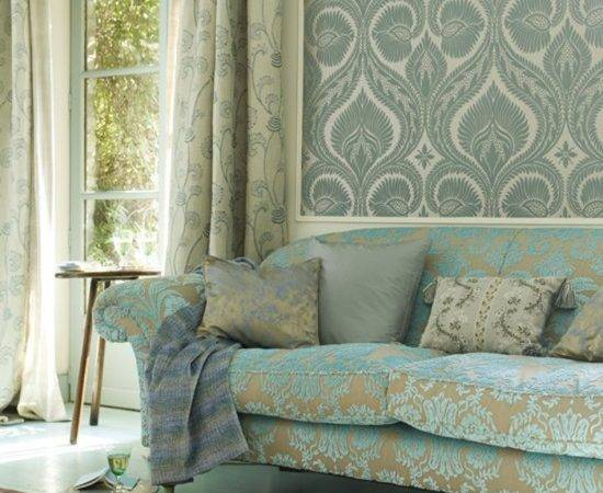 Living Room Patterned Feature