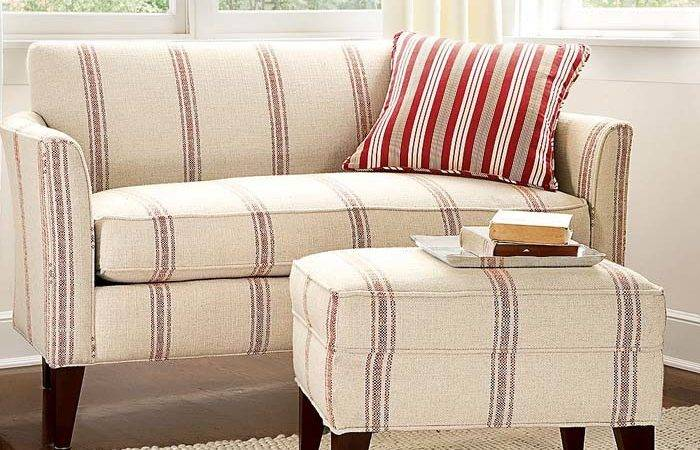 Living Room Pottery Barn Beige Sofa Cream Small