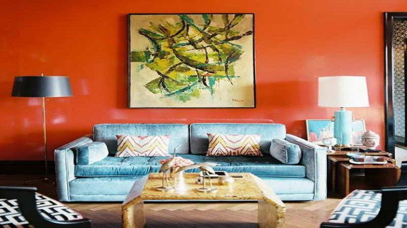 Living Room Real Bright Color Ideas