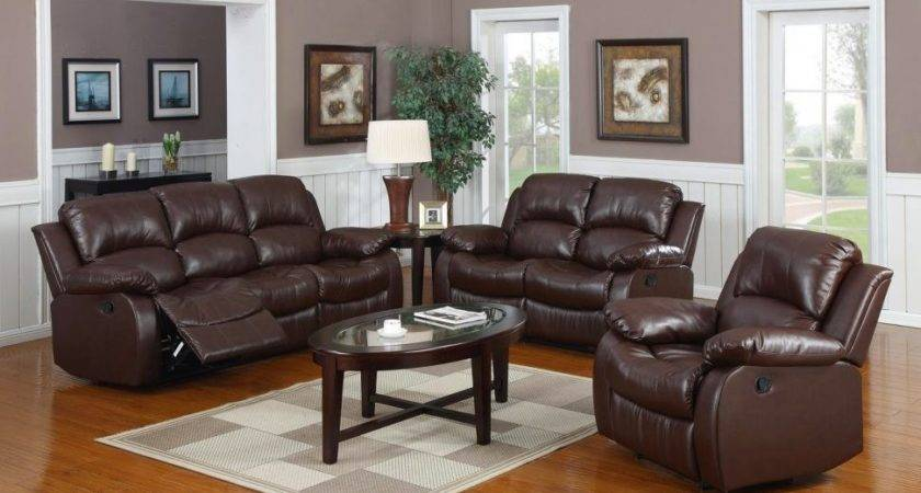 Living Room Red Couch New Set Brown Leather