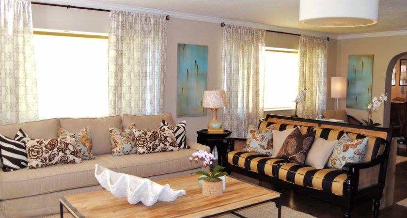 Living Room Soft Colors Bold Patterns