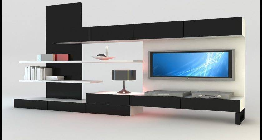 Living Room Unit Designs Unique Lcd Wall Design