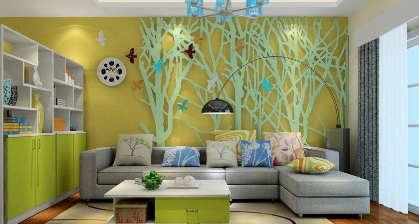 Living Room Wall Decoration Forest Theme
