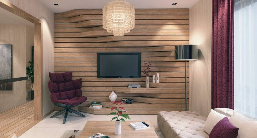 Living Room Wood Wall Designs Texture