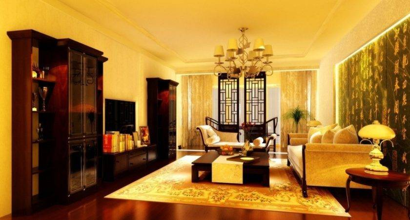 Living Room Yellow Wall Home Design