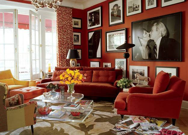 Living Rooms Goes Red Walls Home Decoration Club