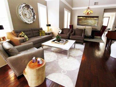 Living Rooms Grays Browns Home Decoration Club