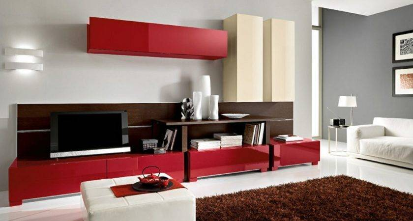 Living Rooms Red Decorating Ideas