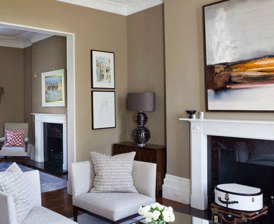 Living Rooms Taupe Walls Home Design
