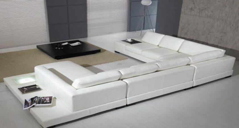 Living Rooms White Leather Sofas Modern