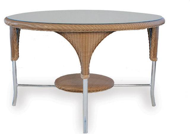 Lloyd Flanders Woven Round Dining Table Eclectic