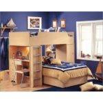 Loft Bed Desk Casual Cottage