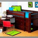 Loft Bed Desk Storage Home Design Ideas