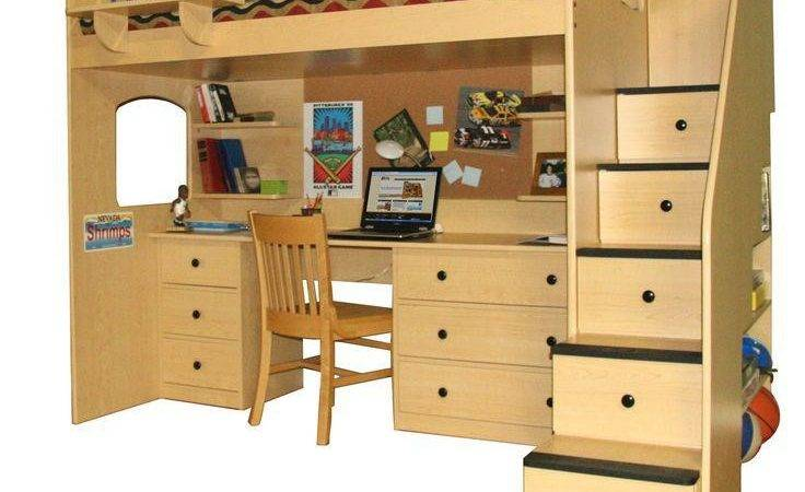 Loft Bed Desk Storage Masata Design