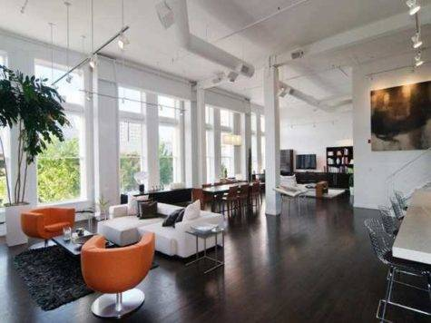 Loft Interior Design Decorating Bold Orange Color