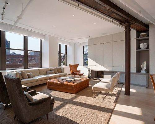 Loft Living Room Home Design Ideas Remodel