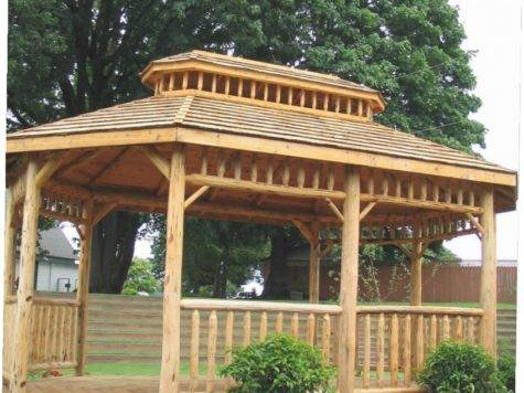 Log Gazebo Kits Ideas