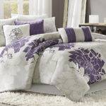 Lola Gray Purple King Comforter Set Linens